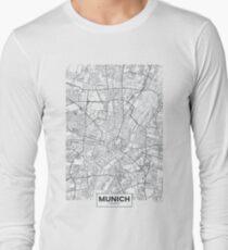 Vector poster city map Munich Long Sleeve T-Shirt