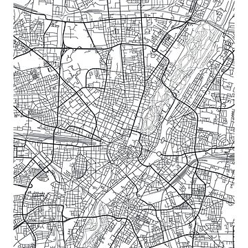 Vector poster city map Munich by maximgertsen