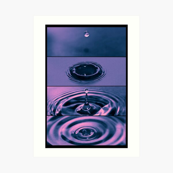 The Dropping of a drip Art Print