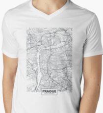 Vector poster city map Prague Men's V-Neck T-Shirt