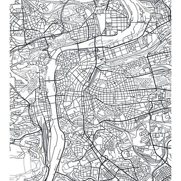 Vector poster city map Prague by maximgertsen