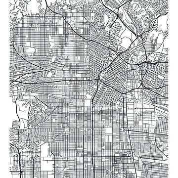 Vector poster map city Los Angeles by maximgertsen