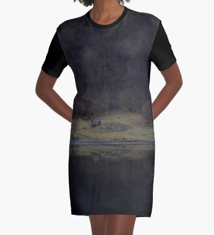Violette Insel (Fjorde) T-Shirt Kleid
