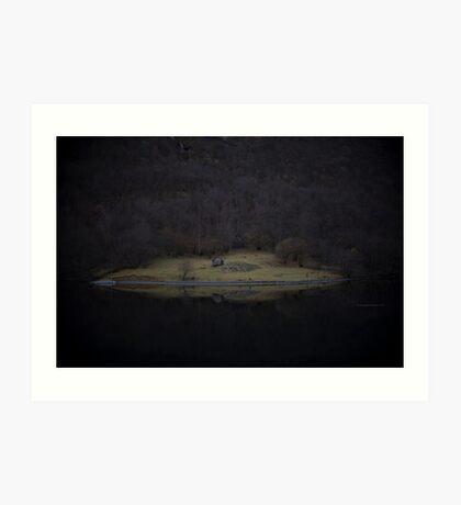 Violette Insel (Fjorde) Kunstdruck