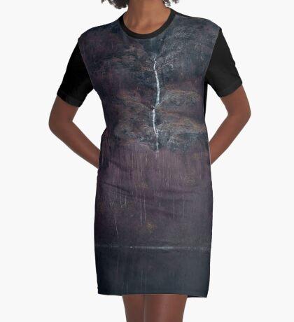 Purpurroter Wald T-Shirt Kleid