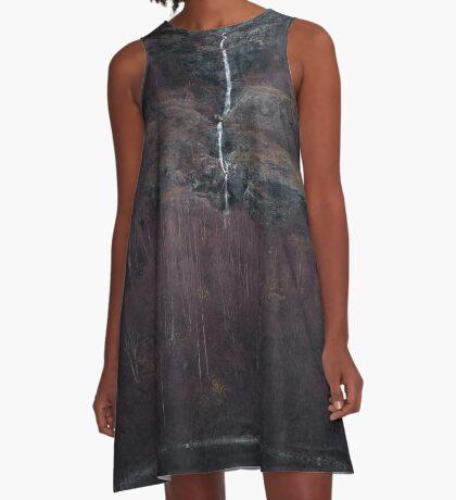 Purpurroter Wald A-Linien Kleid