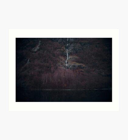 Purpurroter Wald Kunstdruck