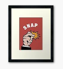 snap fingers Framed Print