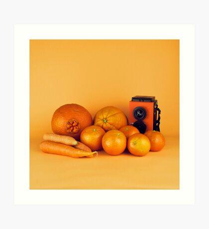 Stillleben der orange Karotten Kunstdruck