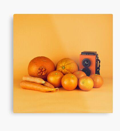 Stillleben der orange Karotten Metallbild
