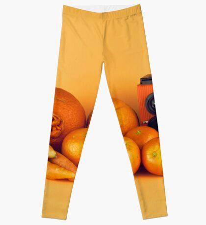 Stillleben der orange Karotten Leggings