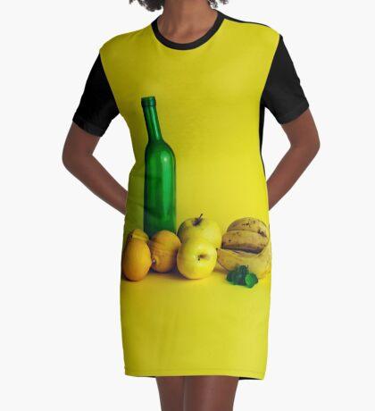Zitronen-Limonenstillleben T-Shirt Kleid