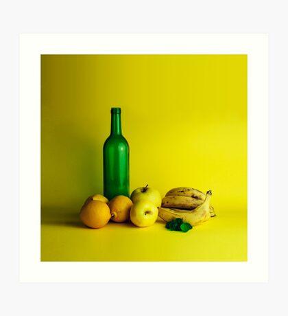 Zitronen-Limonenstillleben Kunstdruck