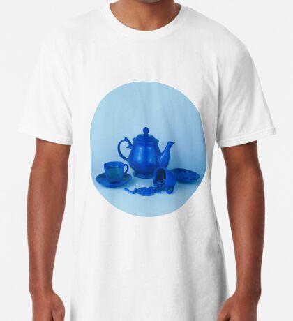 Blue Tea Party Wahnsinn Stillleben Longshirt