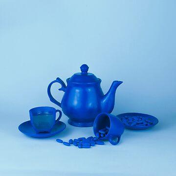Blue tea party madness still life by josemanuelerre