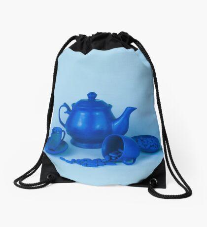 Blue Tea Party Wahnsinn Stillleben Turnbeutel