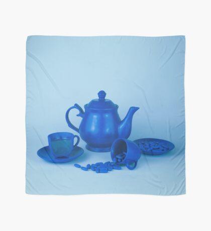 Blue Tea Party Wahnsinn Stillleben Tuch