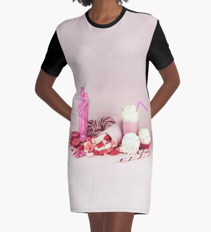 Süßes rosa Schicksalleben noch T-Shirt Kleid