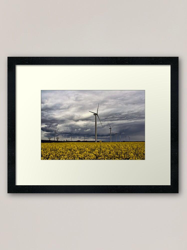 Alternate view of Wind Power Framed Art Print