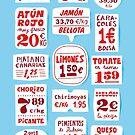 «Mercado Español Cartel Letras» de madebyhorses