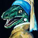 Der Dinosaurier mit dem Perlenohrring von Alexandra Thompson