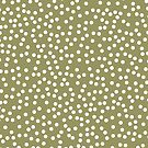 Simple Khaki / Olive Green and White Polka Dots by itsjensworld