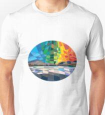 Northern Lights Aurora Borealis Low Polygon T-Shirt
