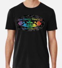 Apau Hawaii Tours Logo auf Lava Rocks Premium T-Shirt