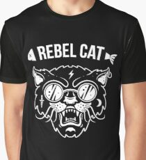 Rebel Cat Graphic T-Shirt