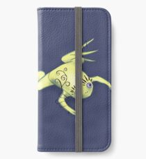 Weird Frog With Funny Eyelashes Digital Art iPhone Wallet/Case/Skin
