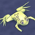 Weird Frog With Funny Eyelashes Digital Art by Boriana Giormova