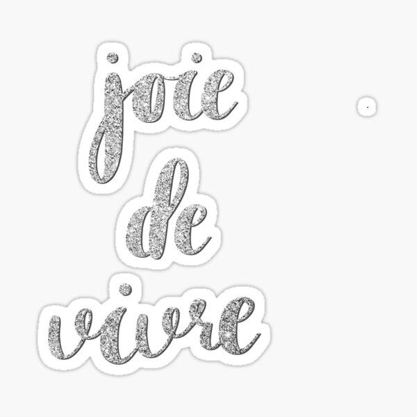 Joie de vivre by Alice Monber Sticker