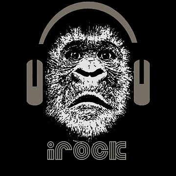 iRock Gorilla Wearing Headphones  by taiche