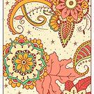 Mandala Flowers by aartmoore