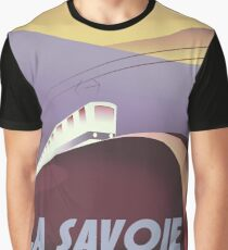Savoy France Train poster. Graphic T-Shirt