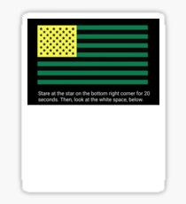 American Flag (Eye Trick) Sticker