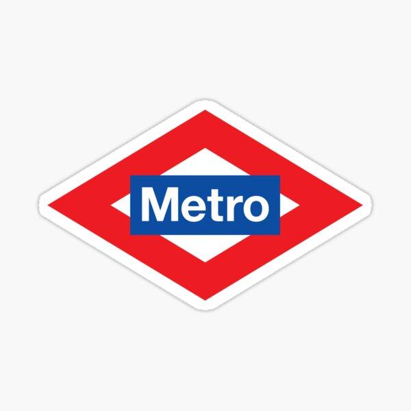 Metro de madrid Pegatina