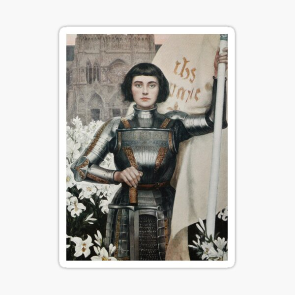 A 1903 engraving of Joan of Arc. Sticker