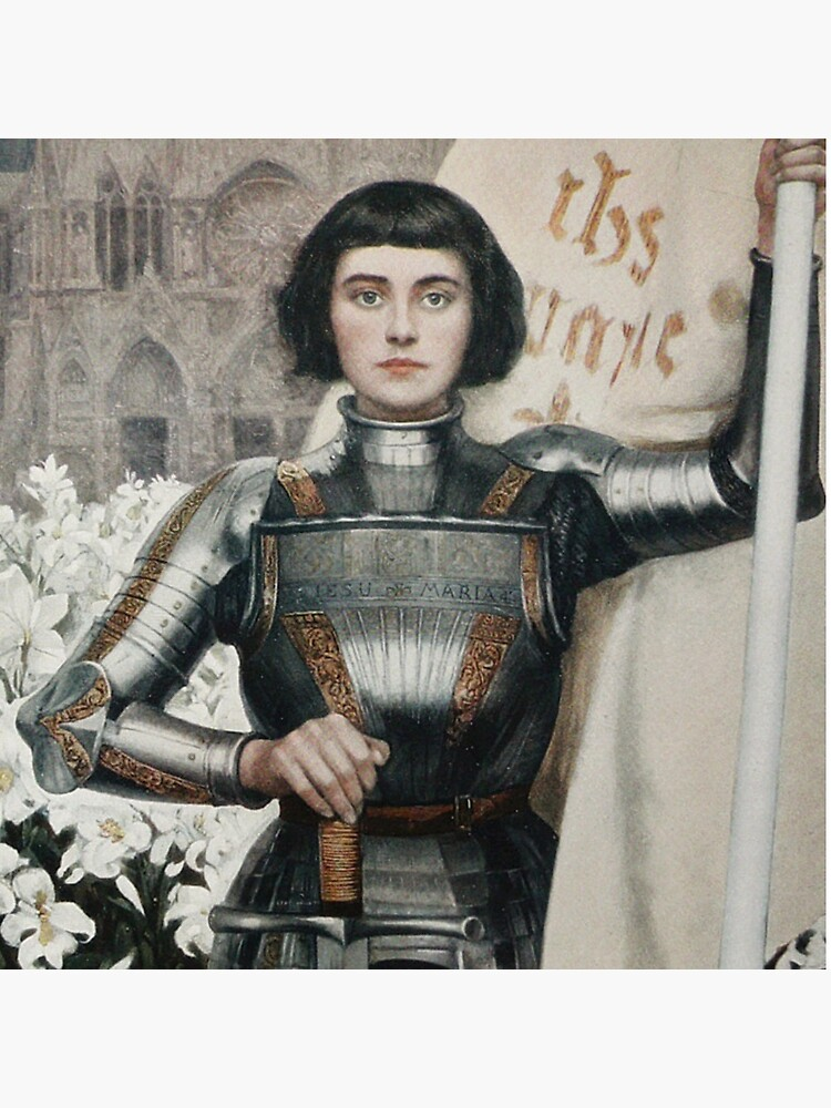 A 1903 engraving of Joan of Arc. by TOMSREDBUBBLE