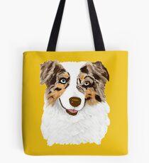 Red Merle Australian Shepherd Dog Tote Bag
