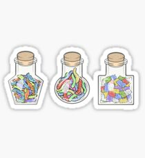 Gummies in jars Sticker