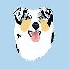 Blue Merle Australian Shepherd Dog by Barbara Applegate