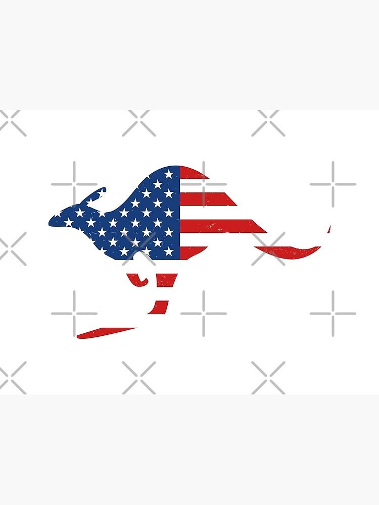 Kangaroo American Flag by teesaurus