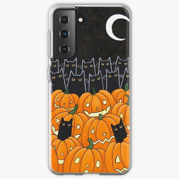Black Cats & Jack-o-Lanterns Samsung Galaxy Soft Case