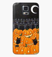 Funda/vinilo para Samsung Galaxy Gatos negros y Jack-o-Lanterns