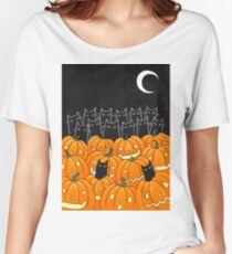 Black Cats & Jack-o-Lanterns Women's Relaxed Fit T-Shirt