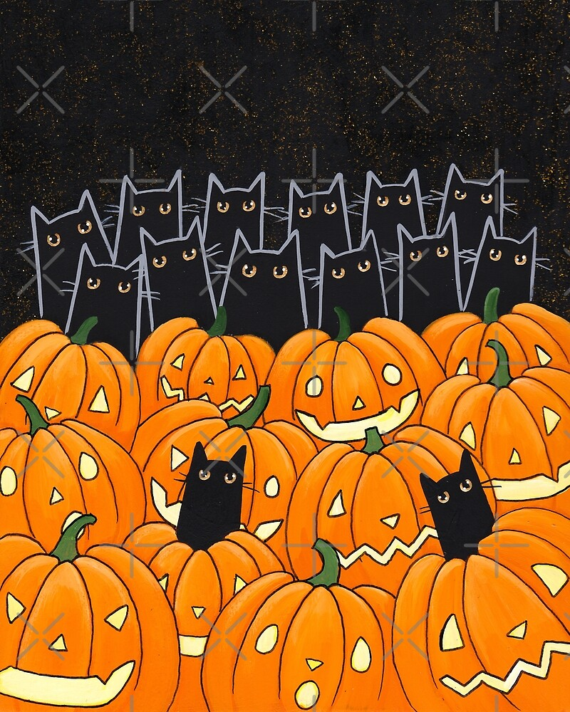 Black Cats & Jack-o-Lanterns by Ryan Conners