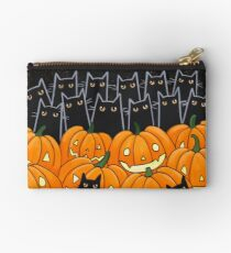 Black Cats & Jack-o-Lanterns Zipper Pouch