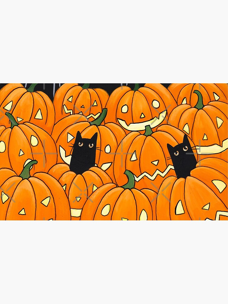 Black Cats & Jack-o-Lanterns by kilkennycat