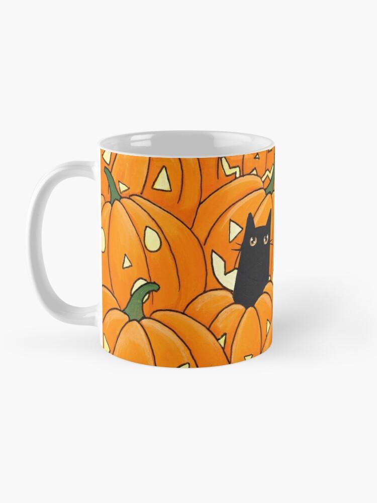 Alternate view of Black Cats & Jack-o-Lanterns Mug